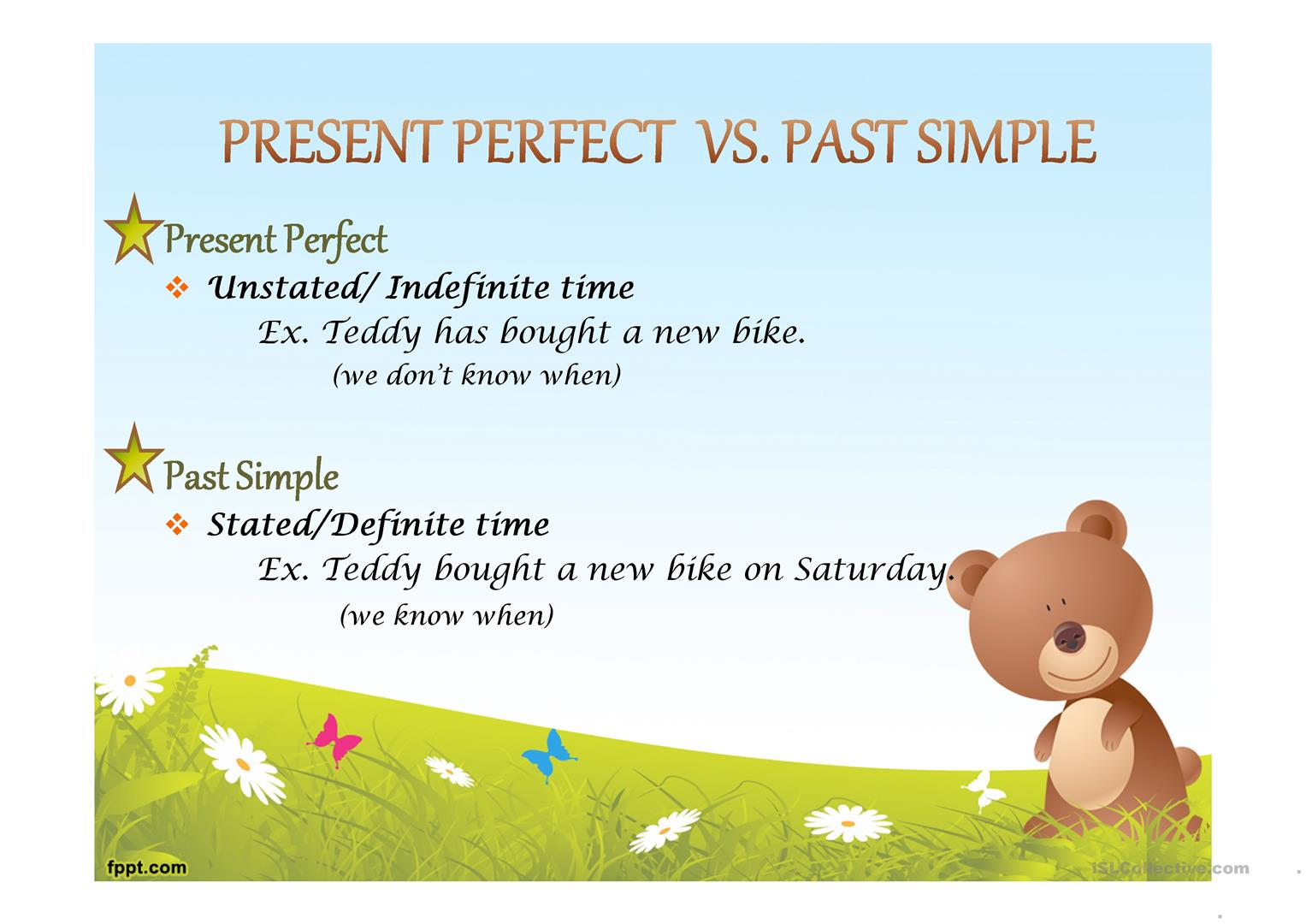 Present Perfect Vs Past Simple Worksheet