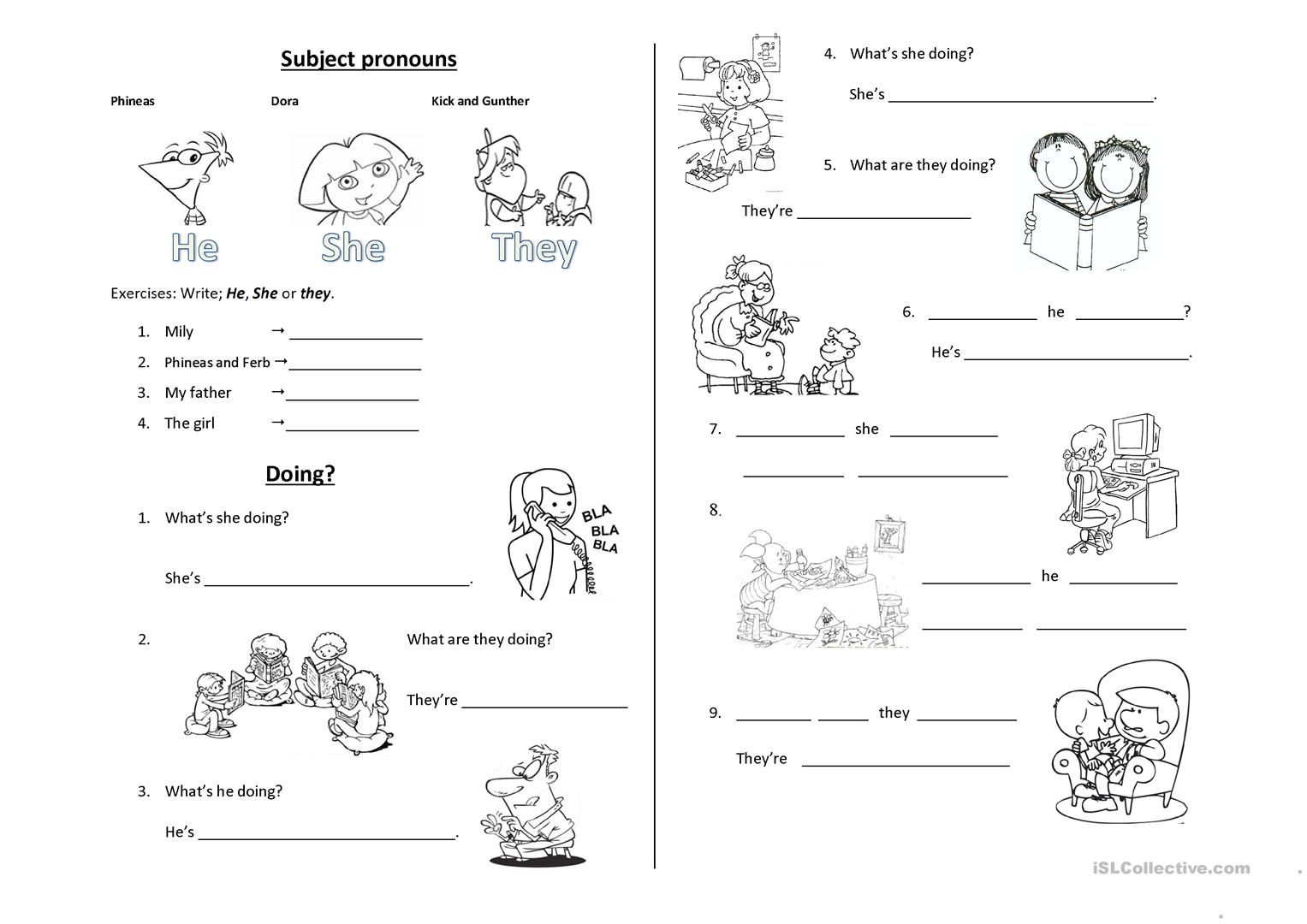 Present Progressive Worksheet