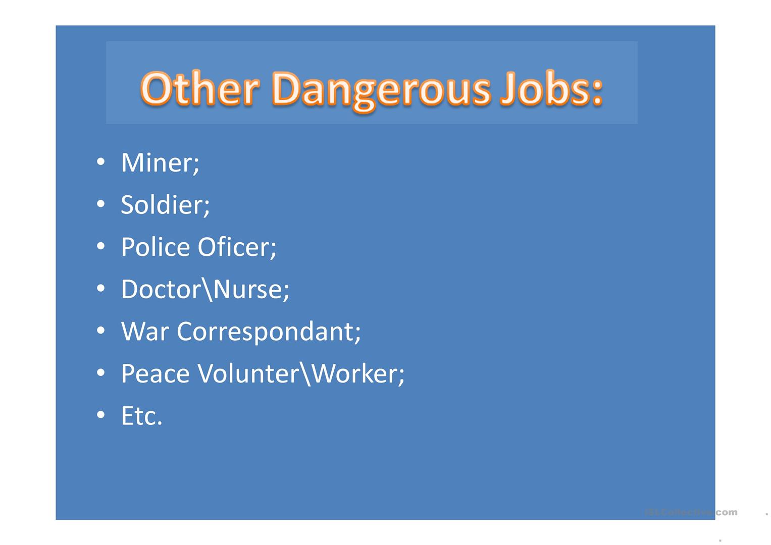 The 5 Most Dangerous Jobs