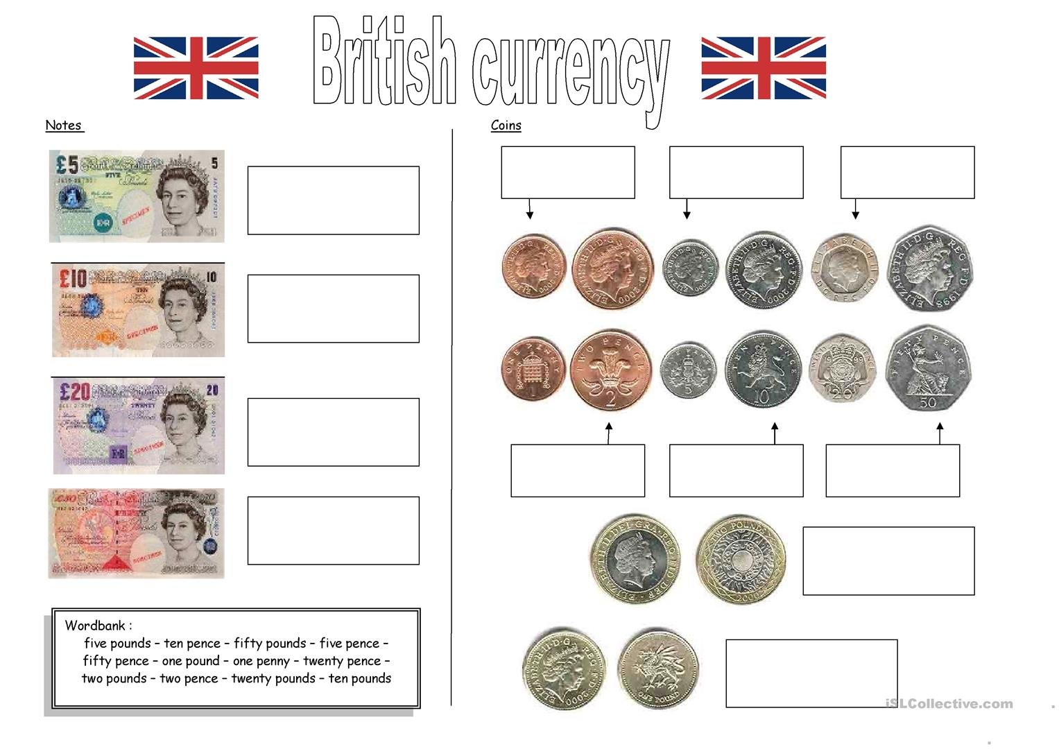 Teacharo Currency British And American