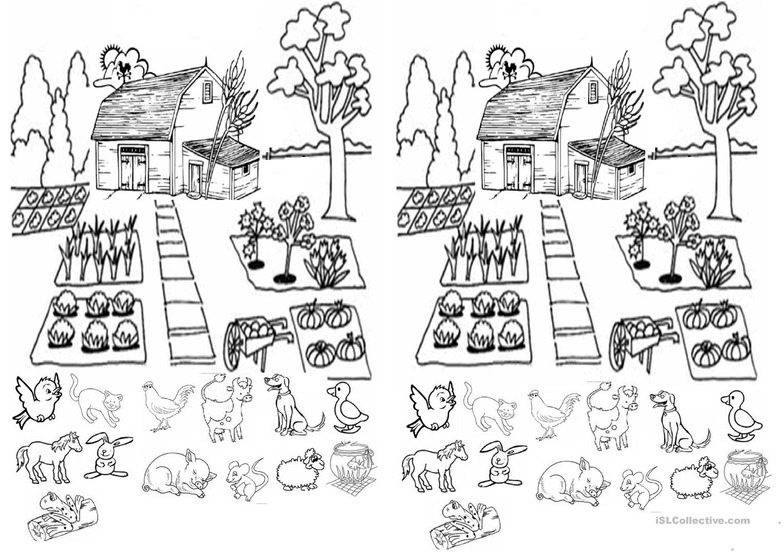 Farm Animals Worksheet