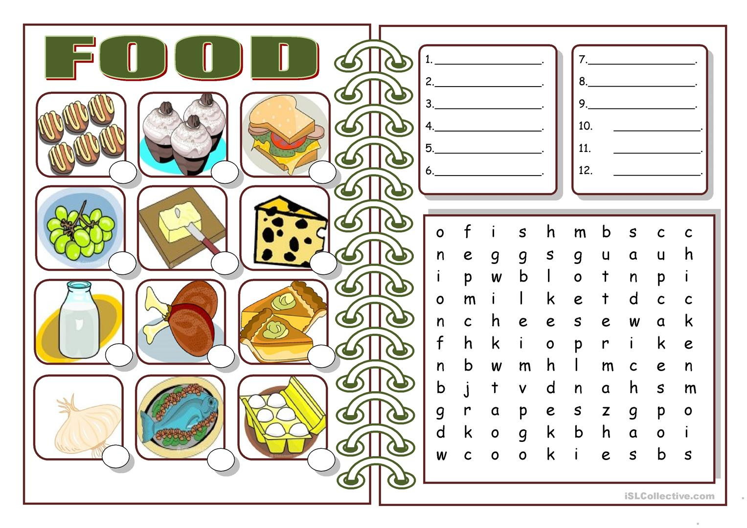 Food Worksheet