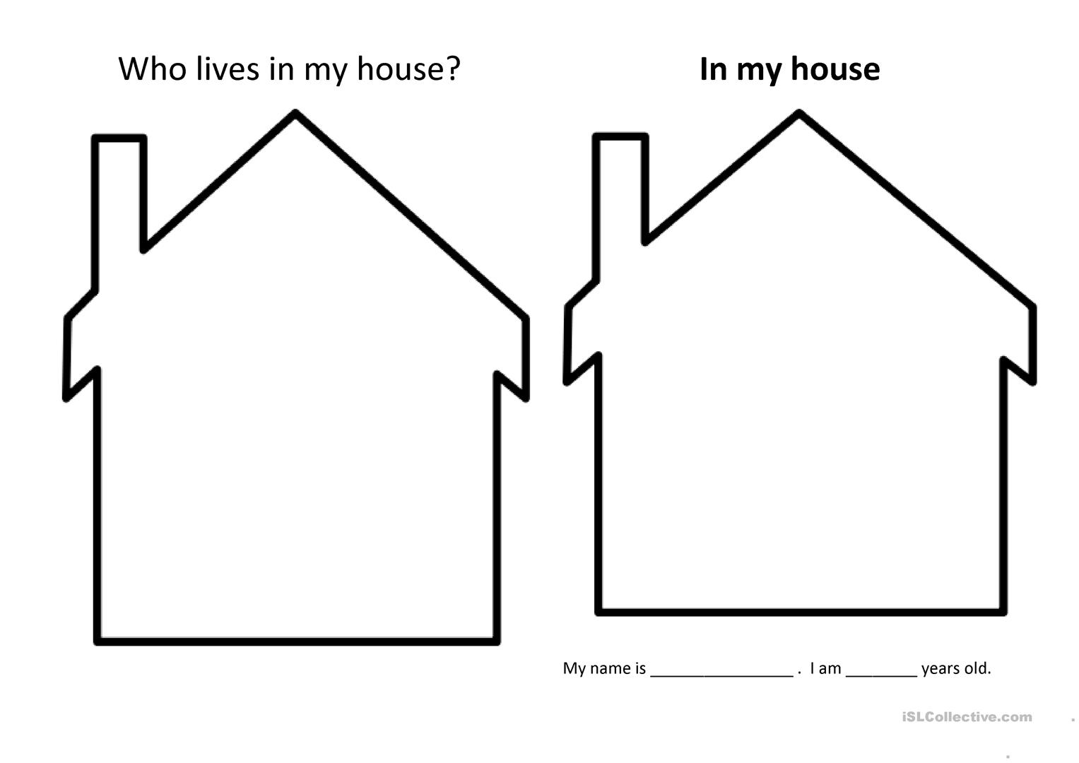 My House Book Worksheet
