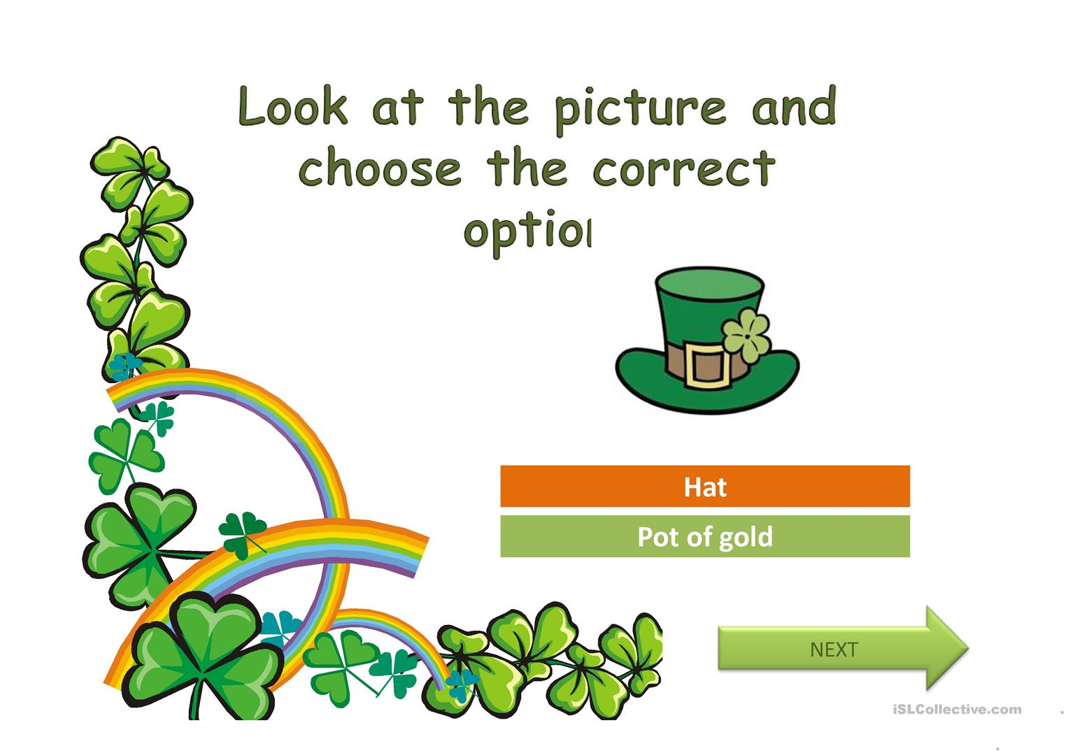 Saint Patrick S Day Worksheet