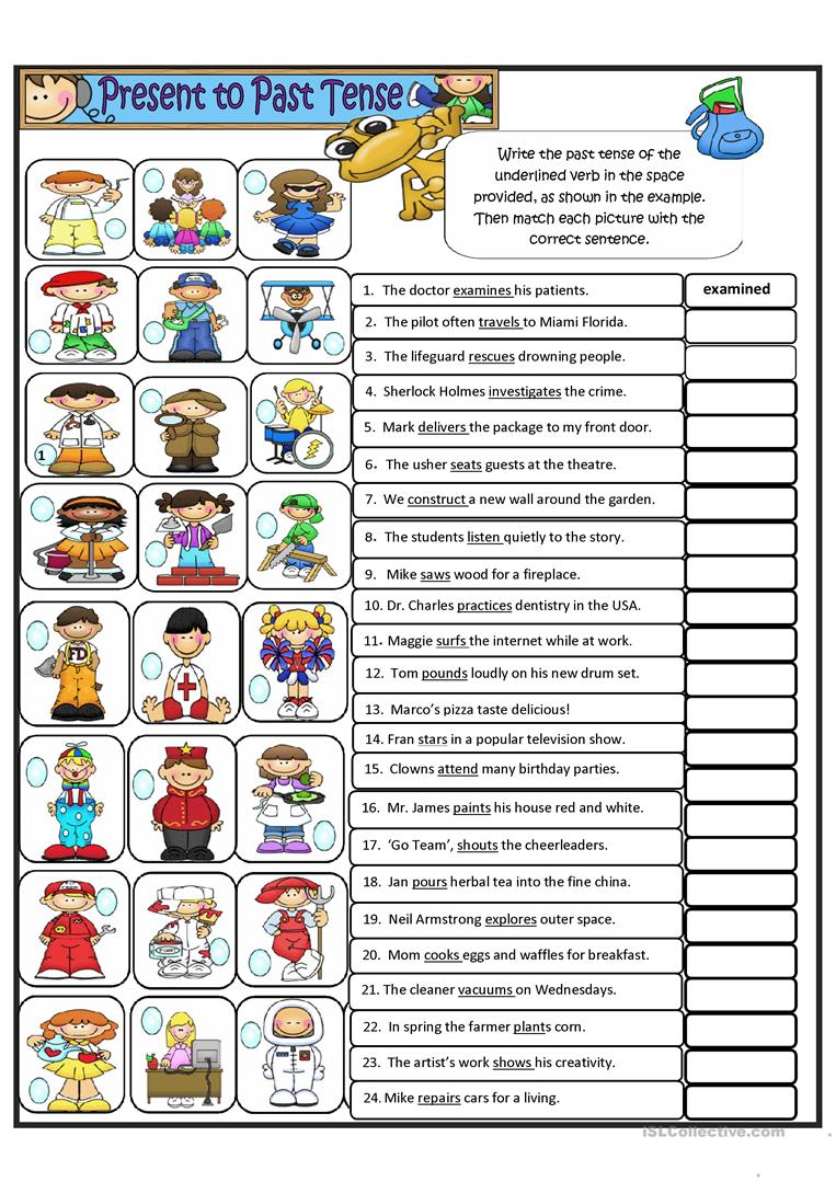 Simple Present Tense To Simple Past Tense