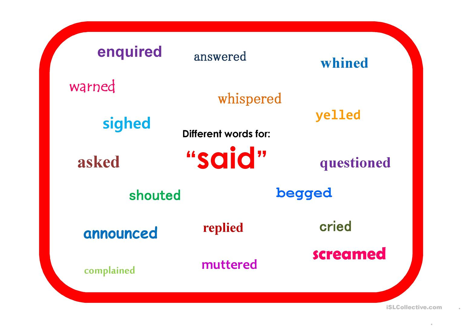 Synonym Displays Worksheet
