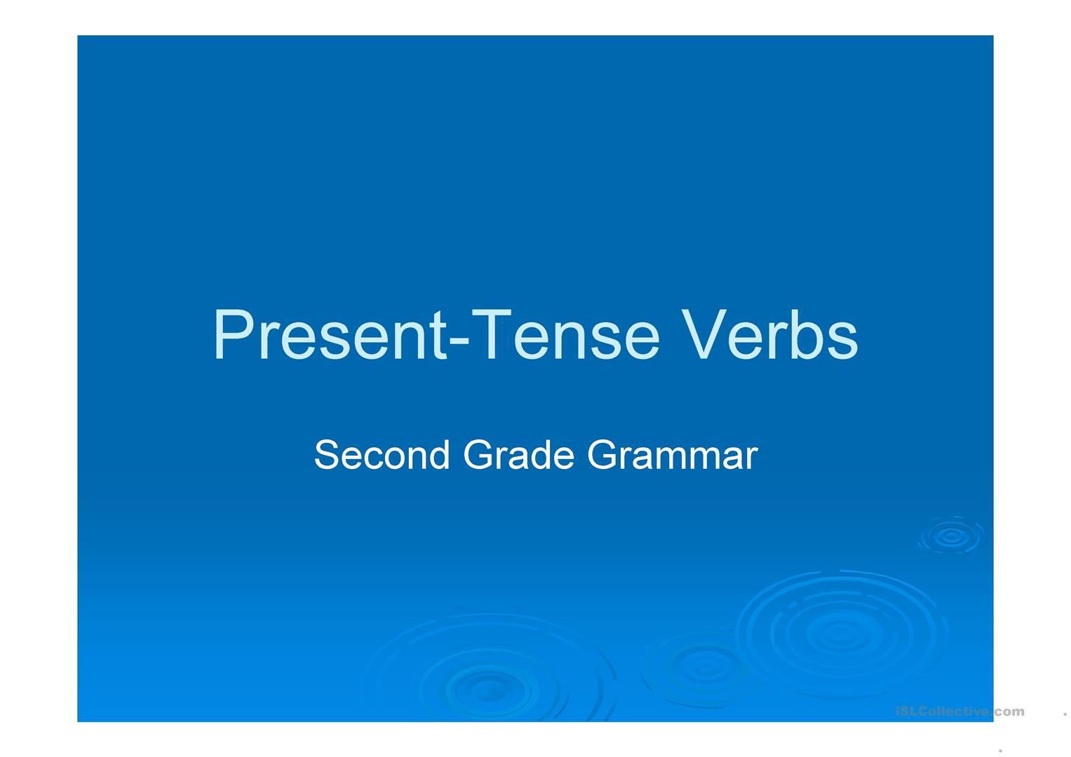 Present Tense Verb Agreement Worksheet