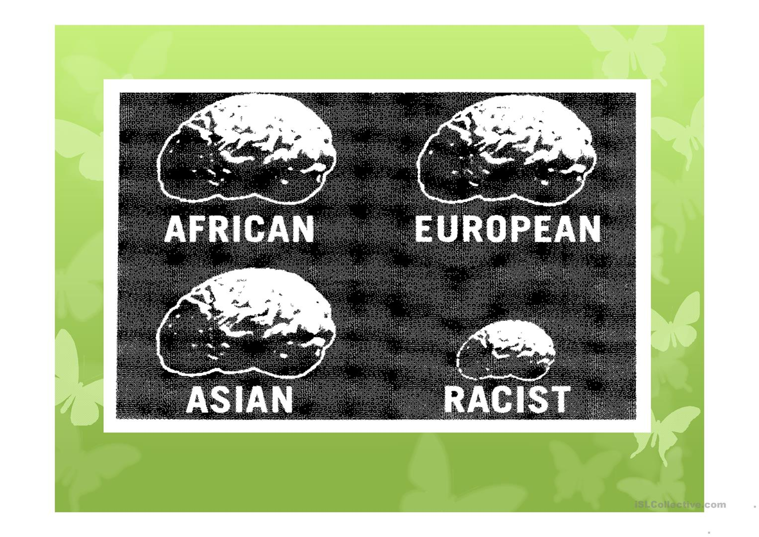 Racism Worksheet