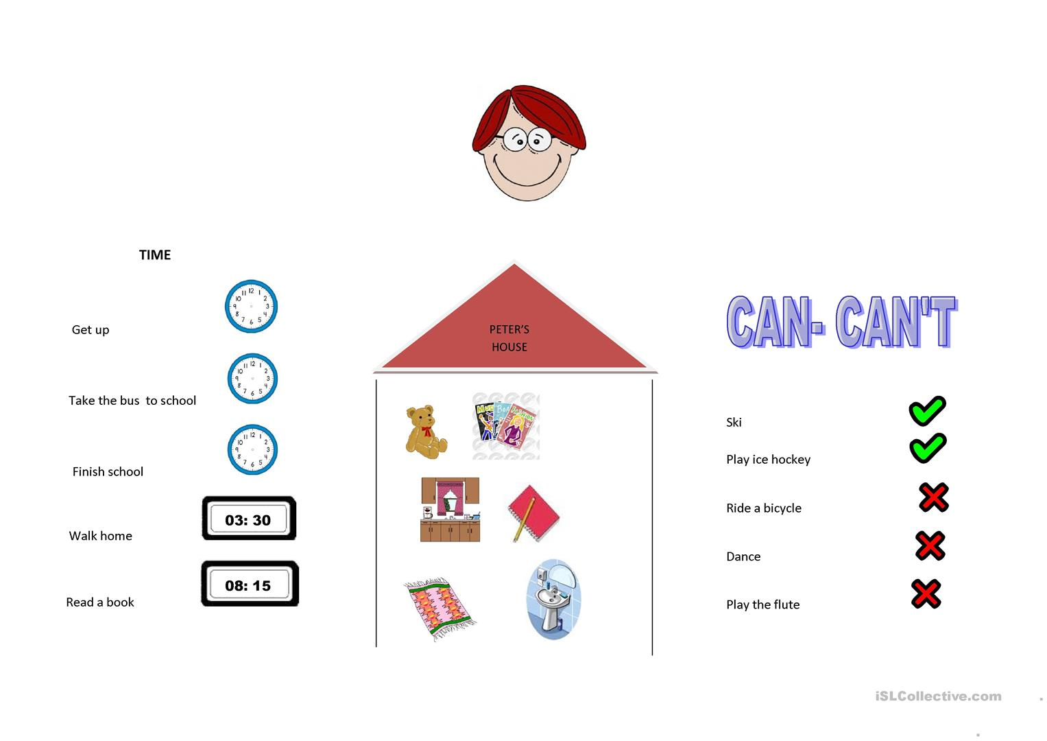 Can Can T Time Things In A House Worksheet