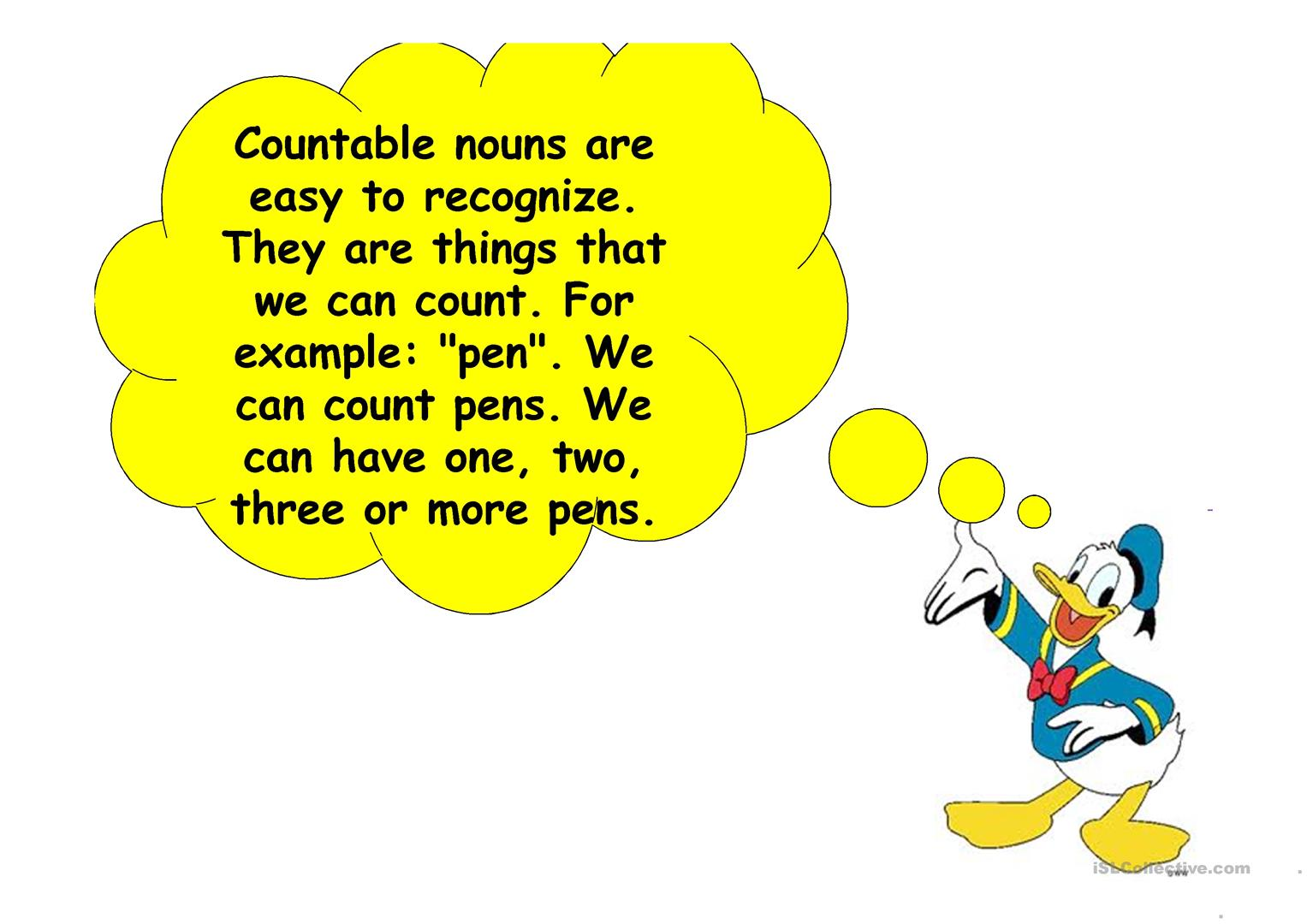Countable Uncountable Nouns Worksheet
