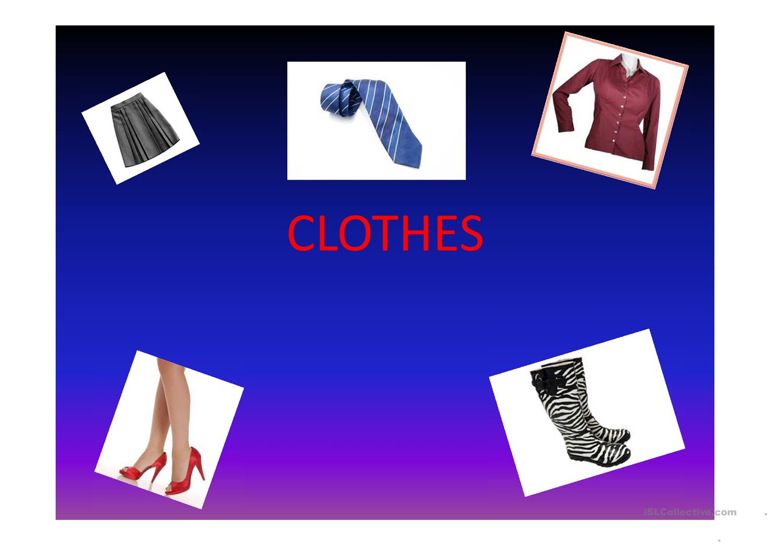 Poem Clothes Worksheet