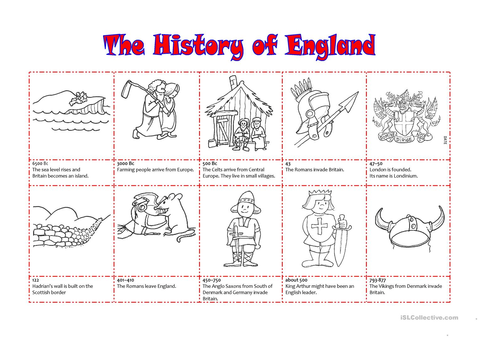 The History Of England Worksheet