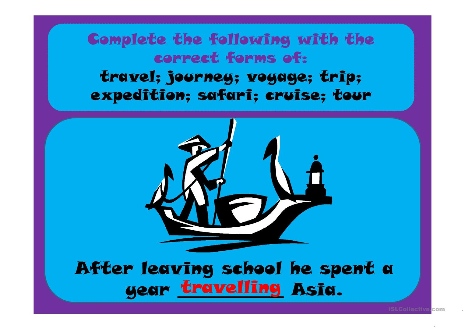 Travel Journey Voyage Trip Expedition Safari Cruise