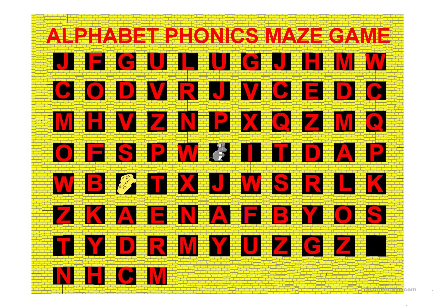 Alphabet Phonics Maze Game A Z With Sounds