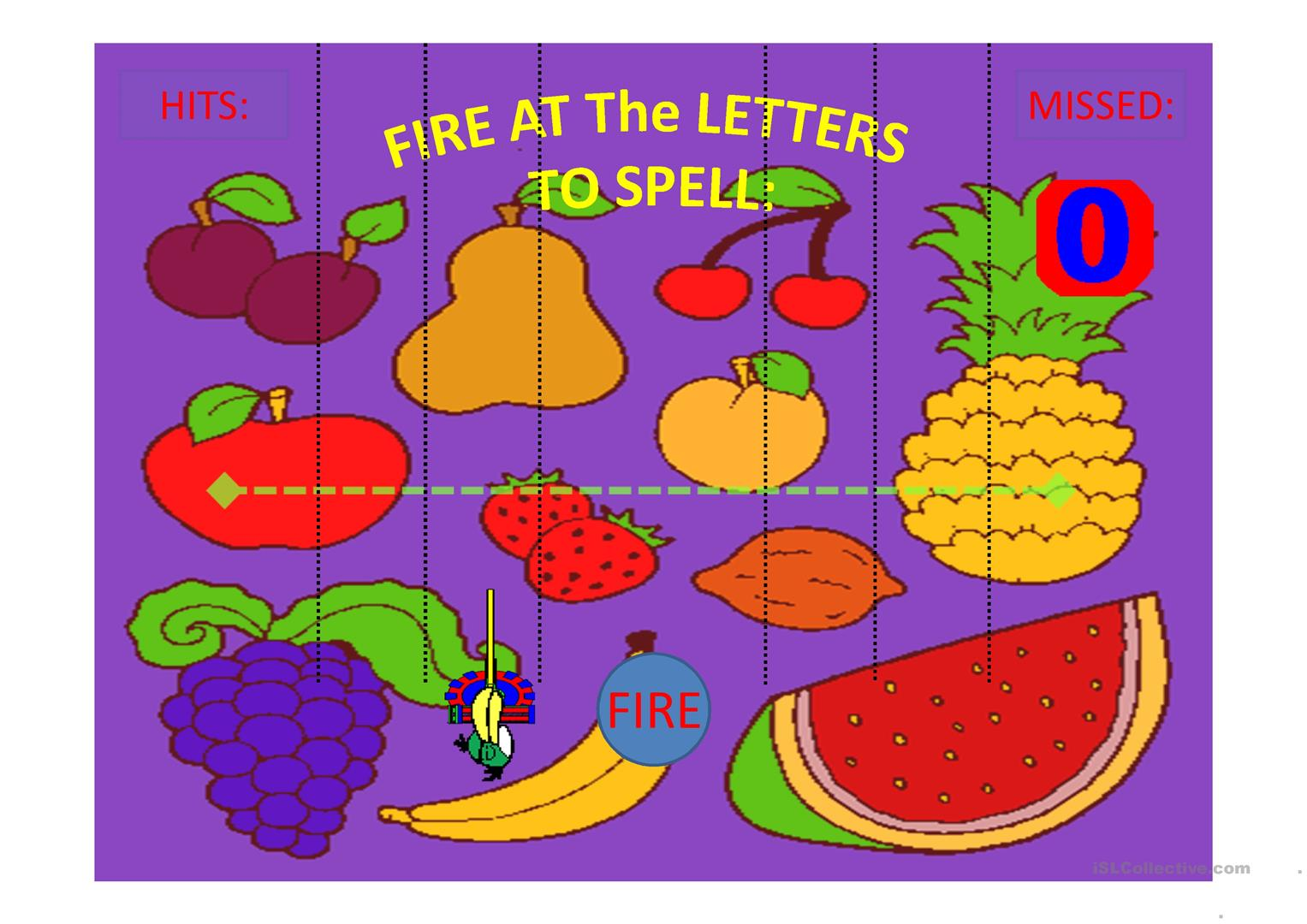 Fruit Shooting Game Spell The Fruit Part 1