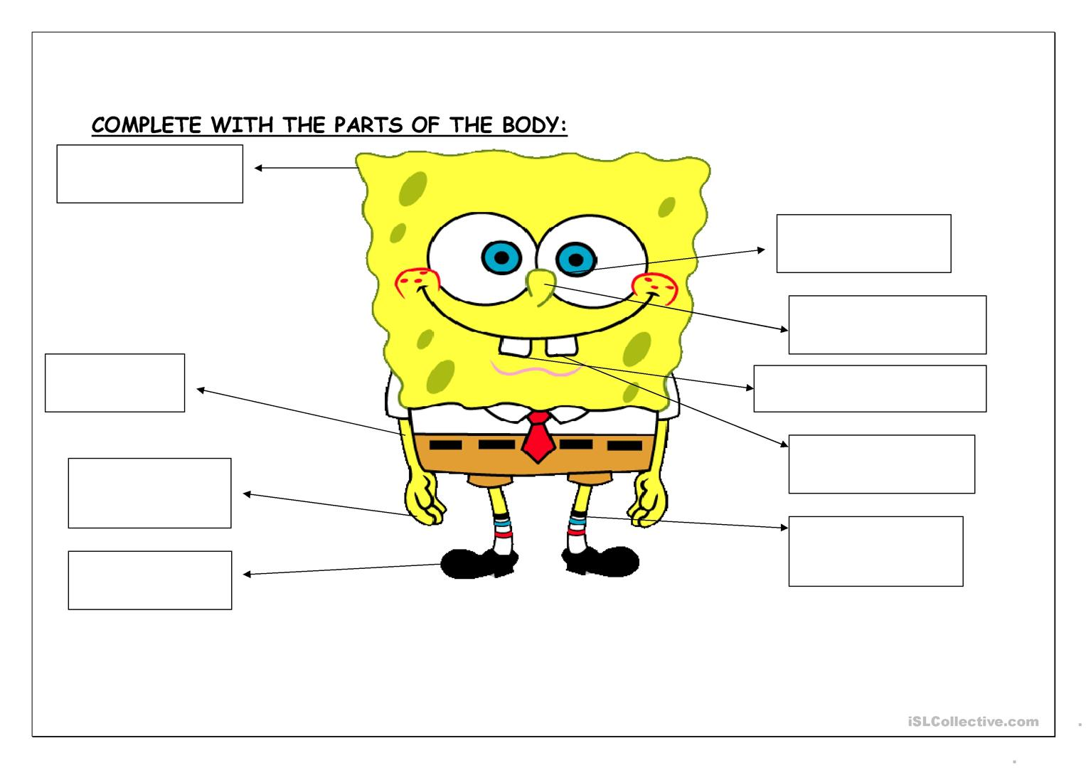 Fun With Spongebob Worksheet