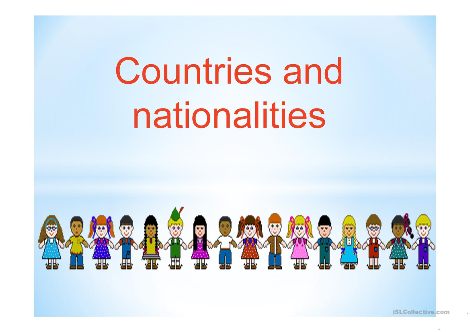 Powerpoint Countries And Nationalities