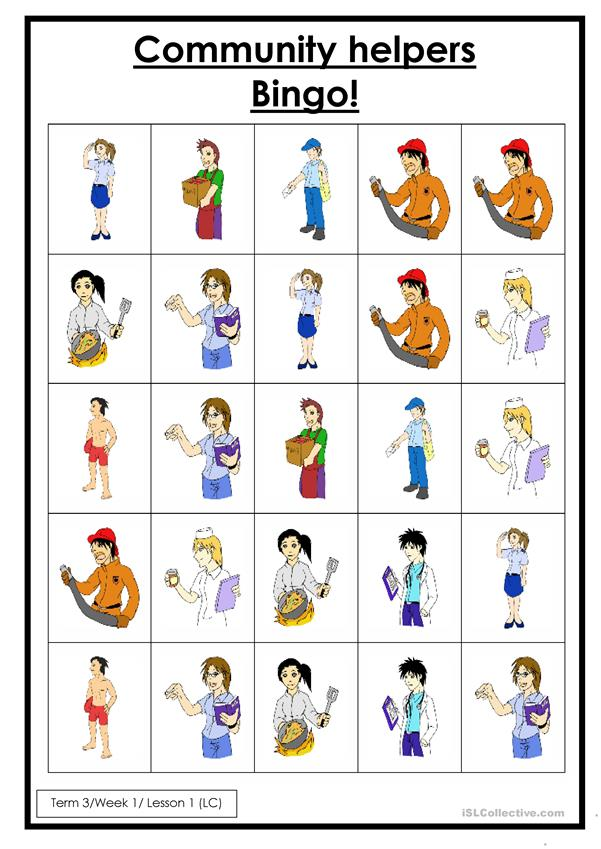 Community Helpers English Esl Worksheets For Distance Learning And Physical Classrooms
