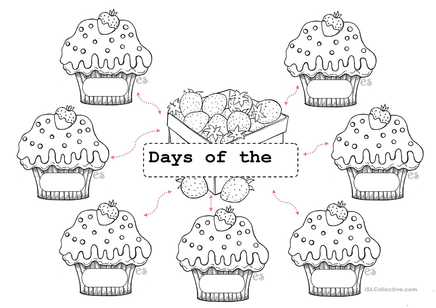 Days Of The Week Mapping Worksheet