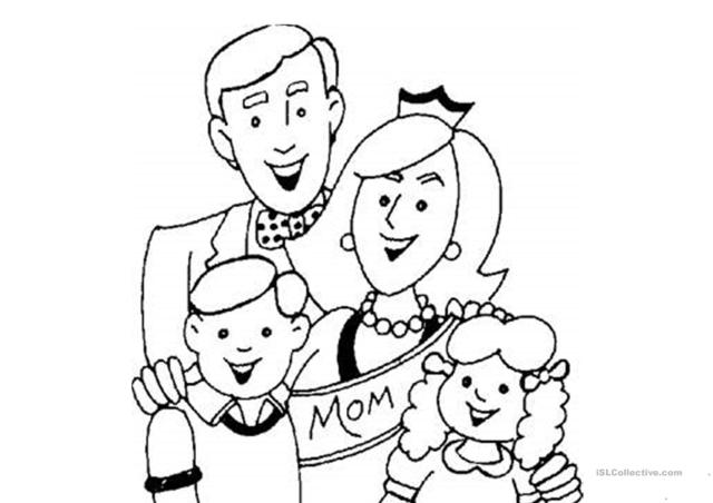 Families coloring pages - English ESL Worksheets for distance