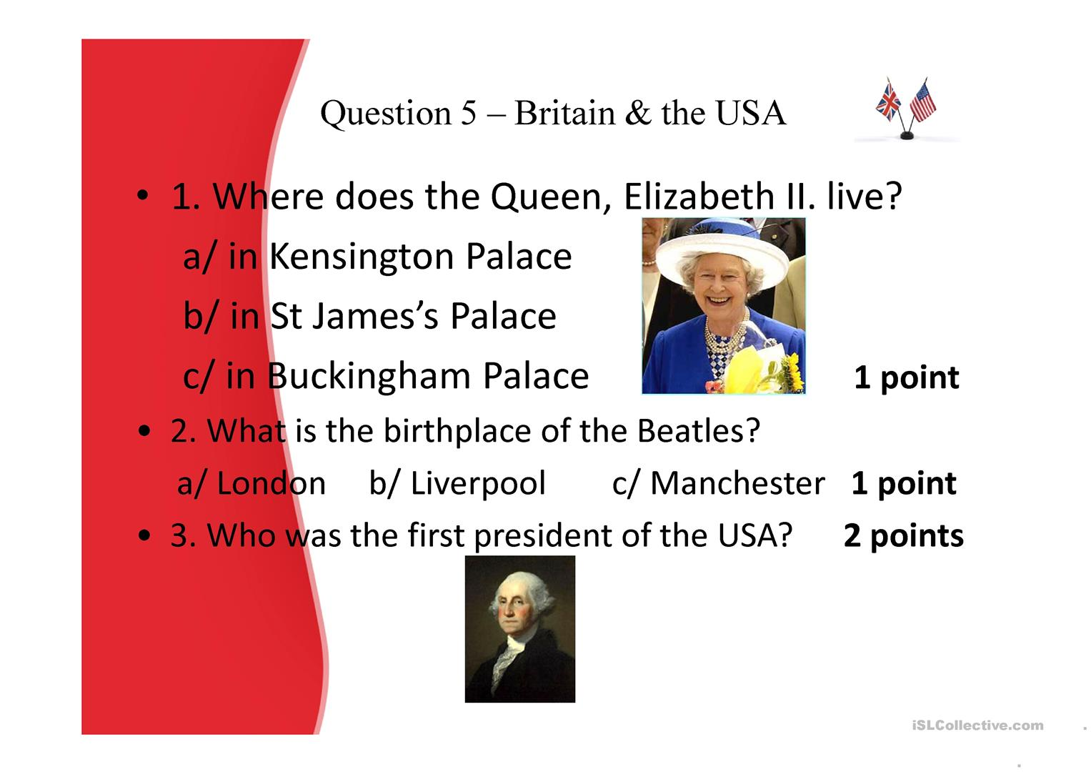 General Knowledge Quiz Worksheet