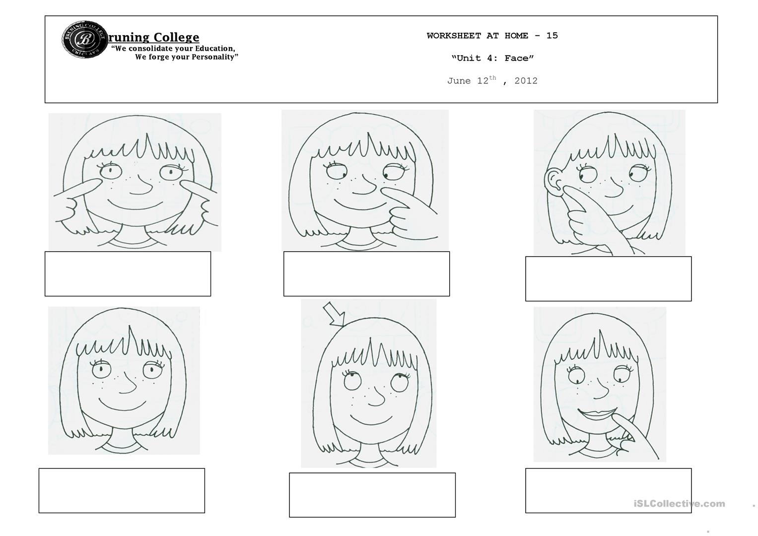Printable Body Parts Worksheets For Kindergarten