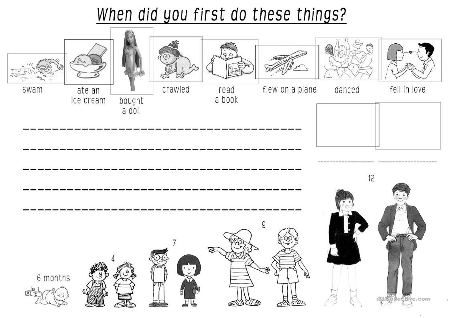When Did You First Worksheet