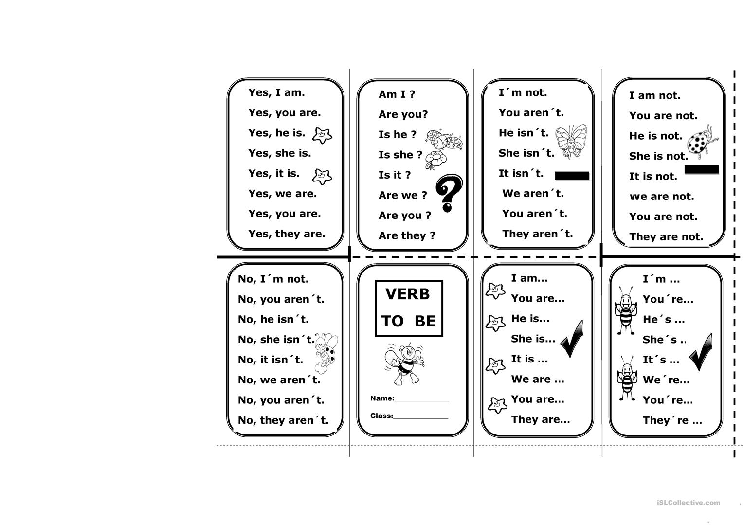 To Be Verb Worksheet