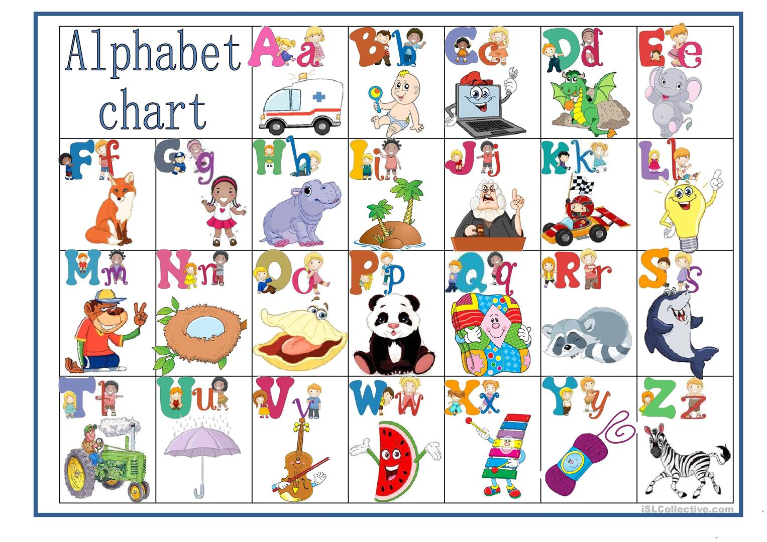 Alphabet Chart Worksheet