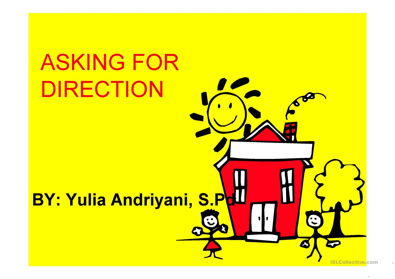 Asking And Giving Direction Worksheet