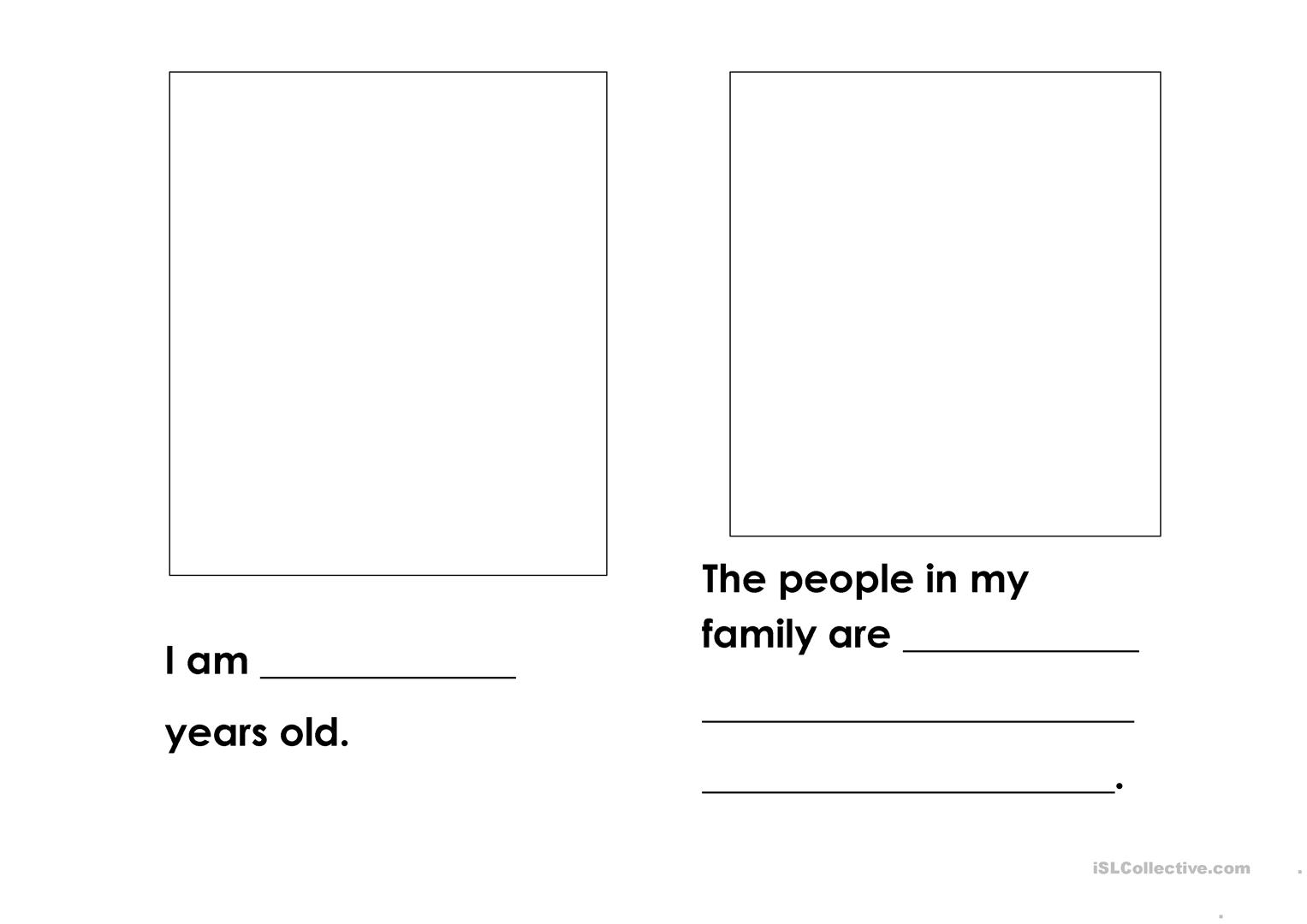 All About Me Book Worksheet