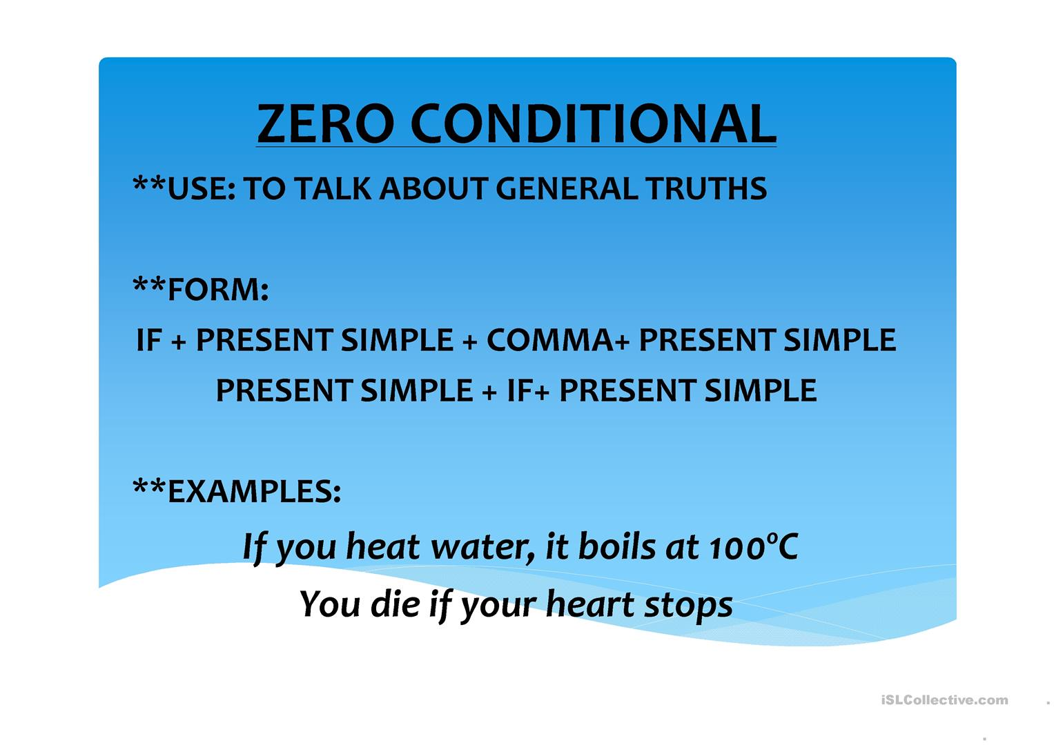 Conditionals 0 1st 2nd Worksheet