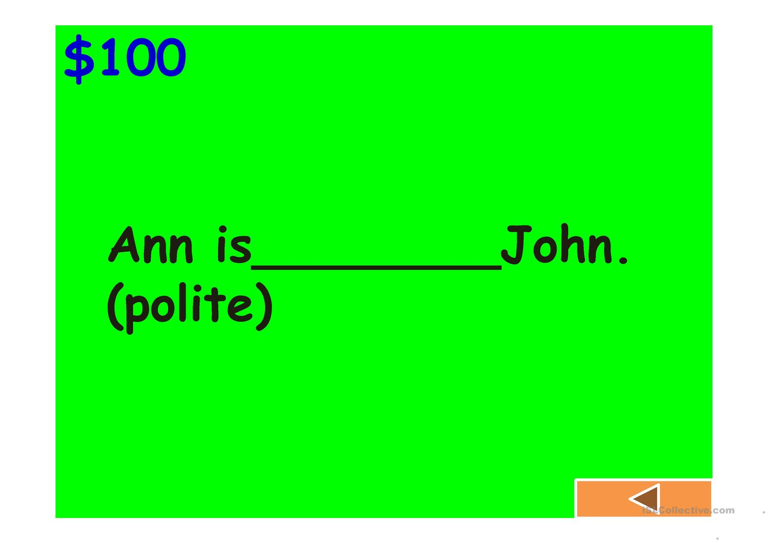 Let S Play Jeopardy Worksheet