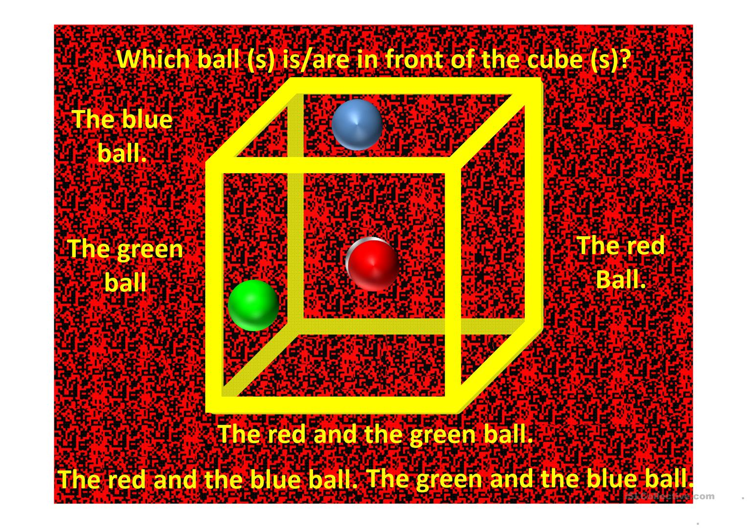 Prepositions Of Place Cube Illusion Worksheet
