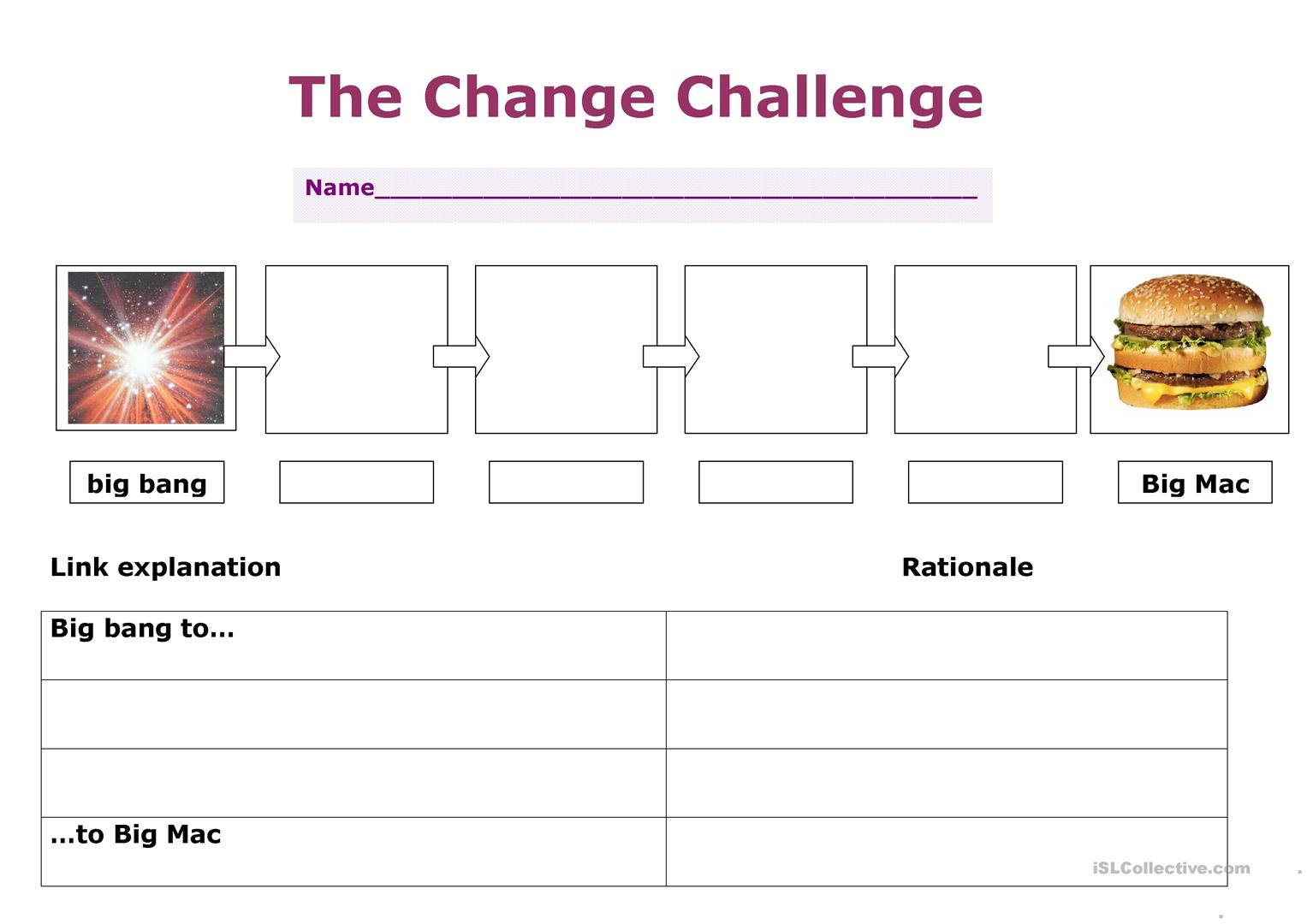 The Change Challenge Worksheet