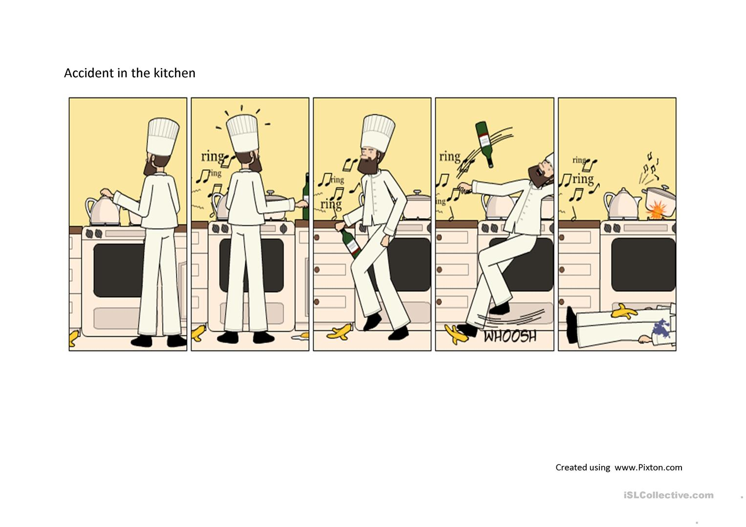 Accident In The Kitchen Worksheet