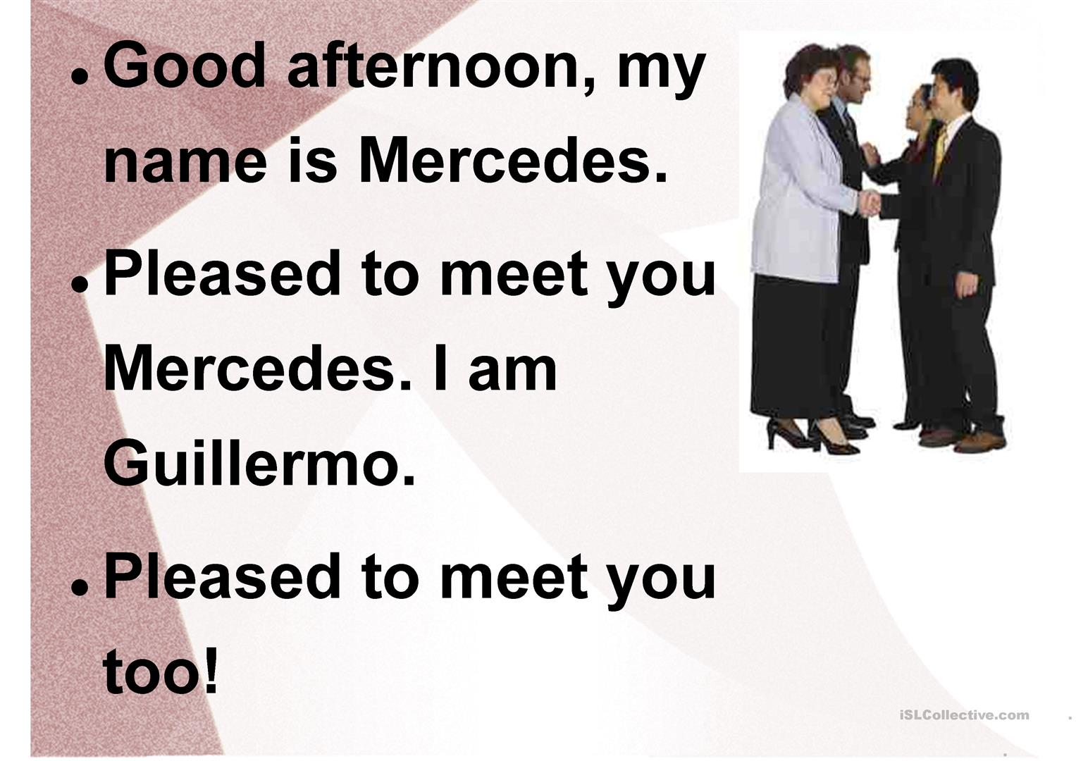 Greetings And Introductions Simple Dialogs Worksheet