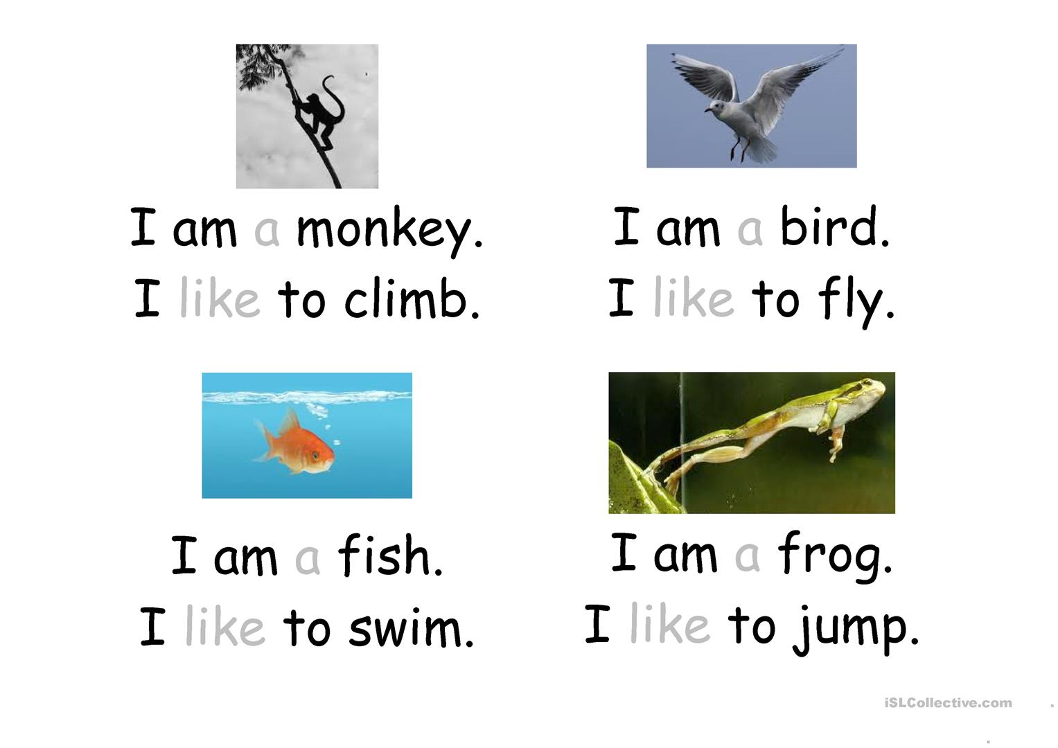 Like Am Sight Word Booklet