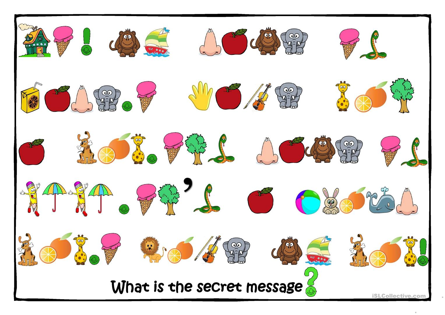 Secret Message Game Worksheet