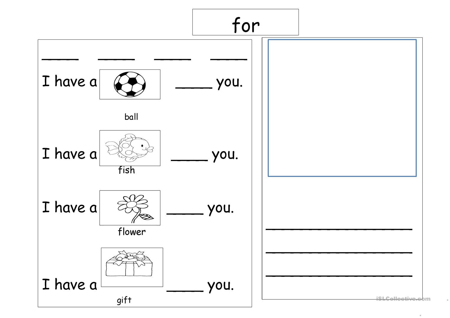 Sight Words For Worksheet