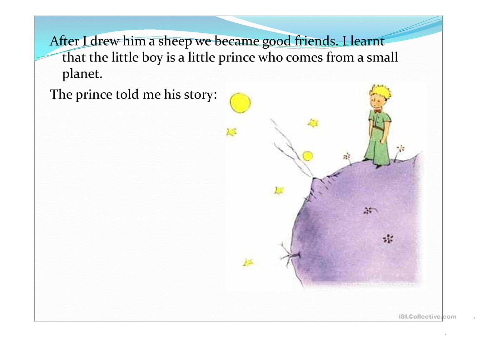 The Little Prince Story Worksheet