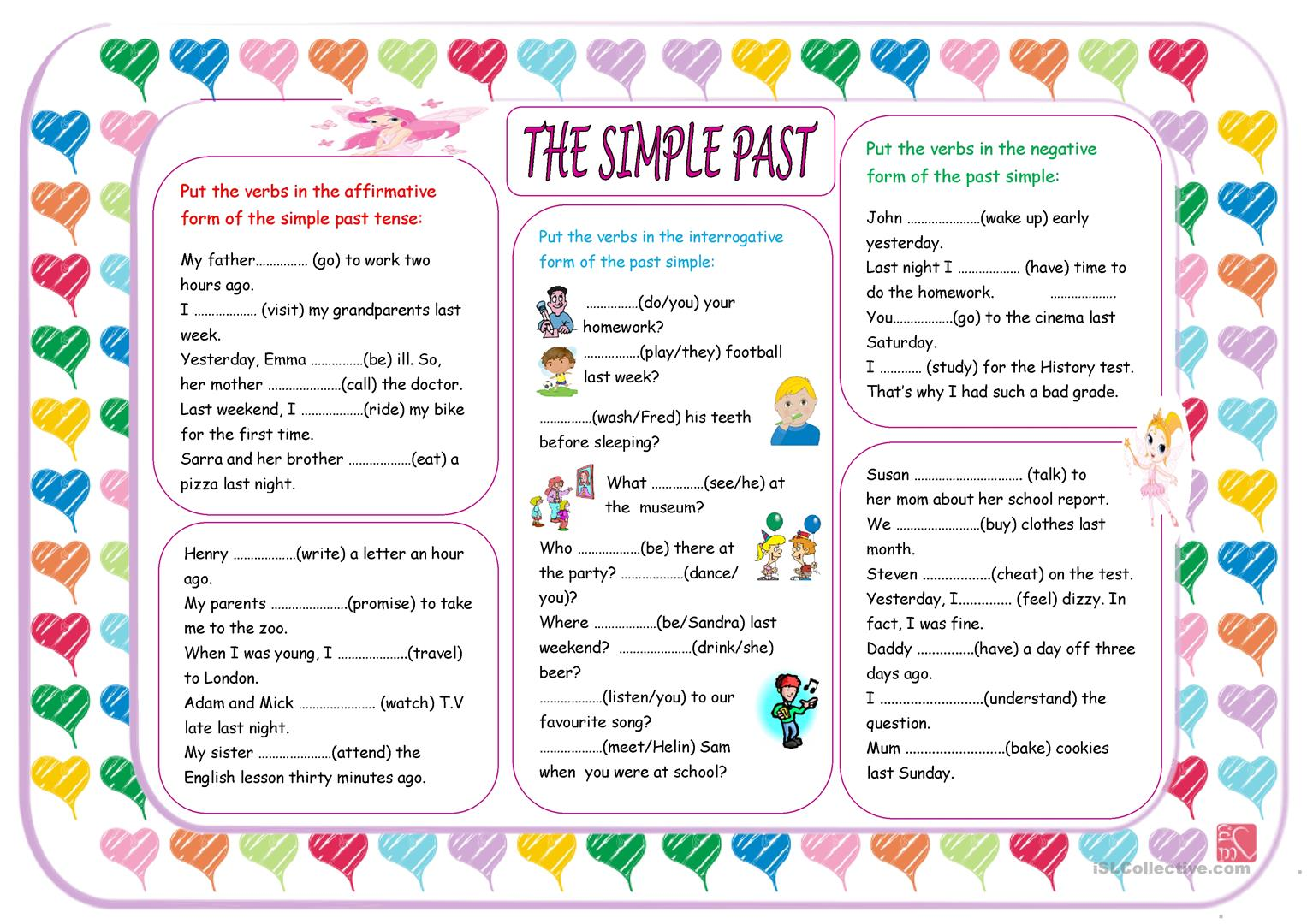 The Past Simple Worksheet