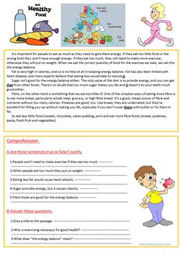 Essay on food and nutrition for kids