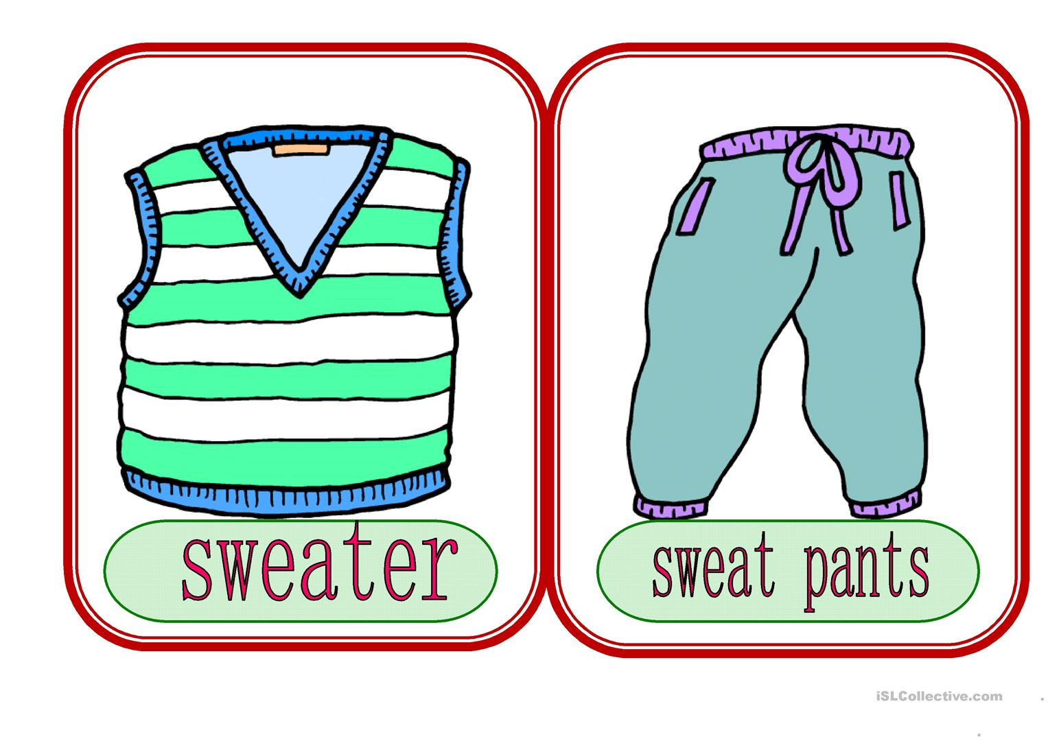 Clothes 6 Worksheet