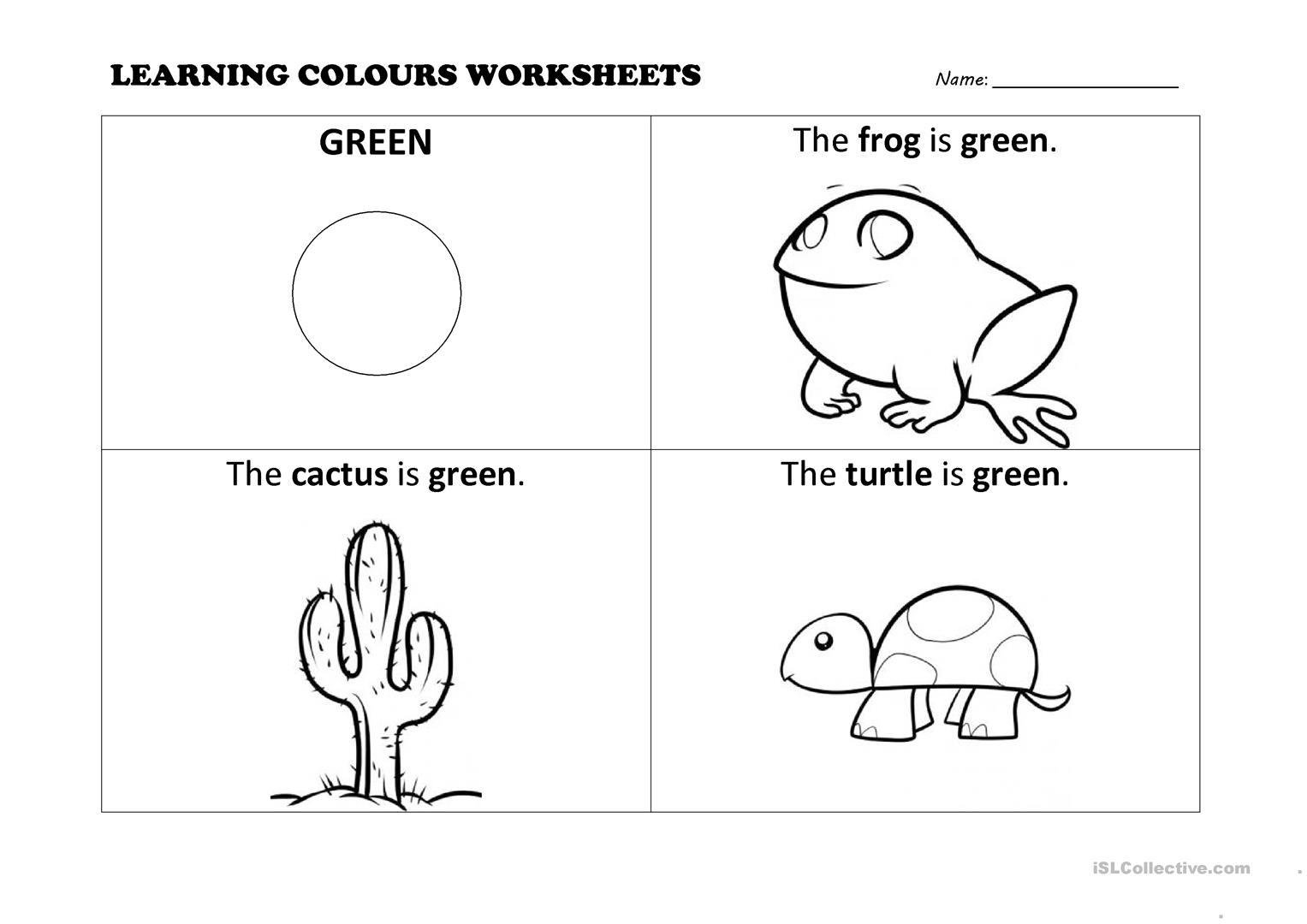 Colours Worksheets
