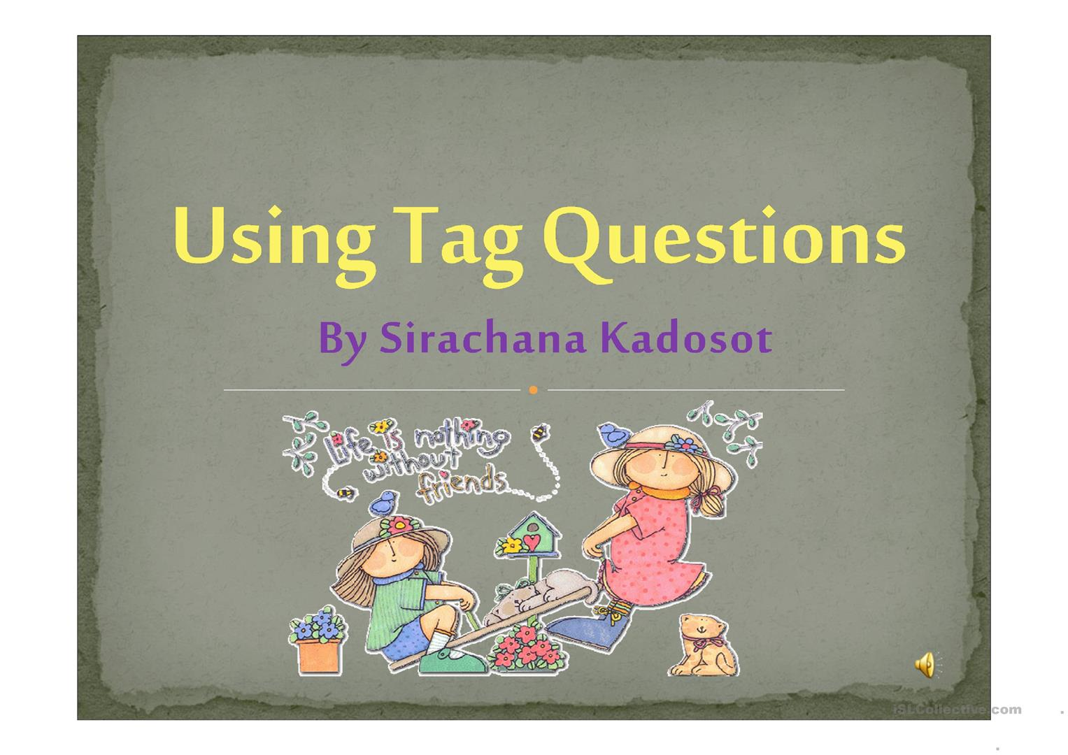 Tag Question Worksheet