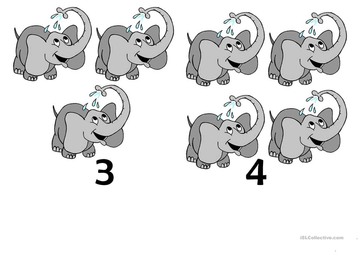 Ten Little Elephants Worksheet
