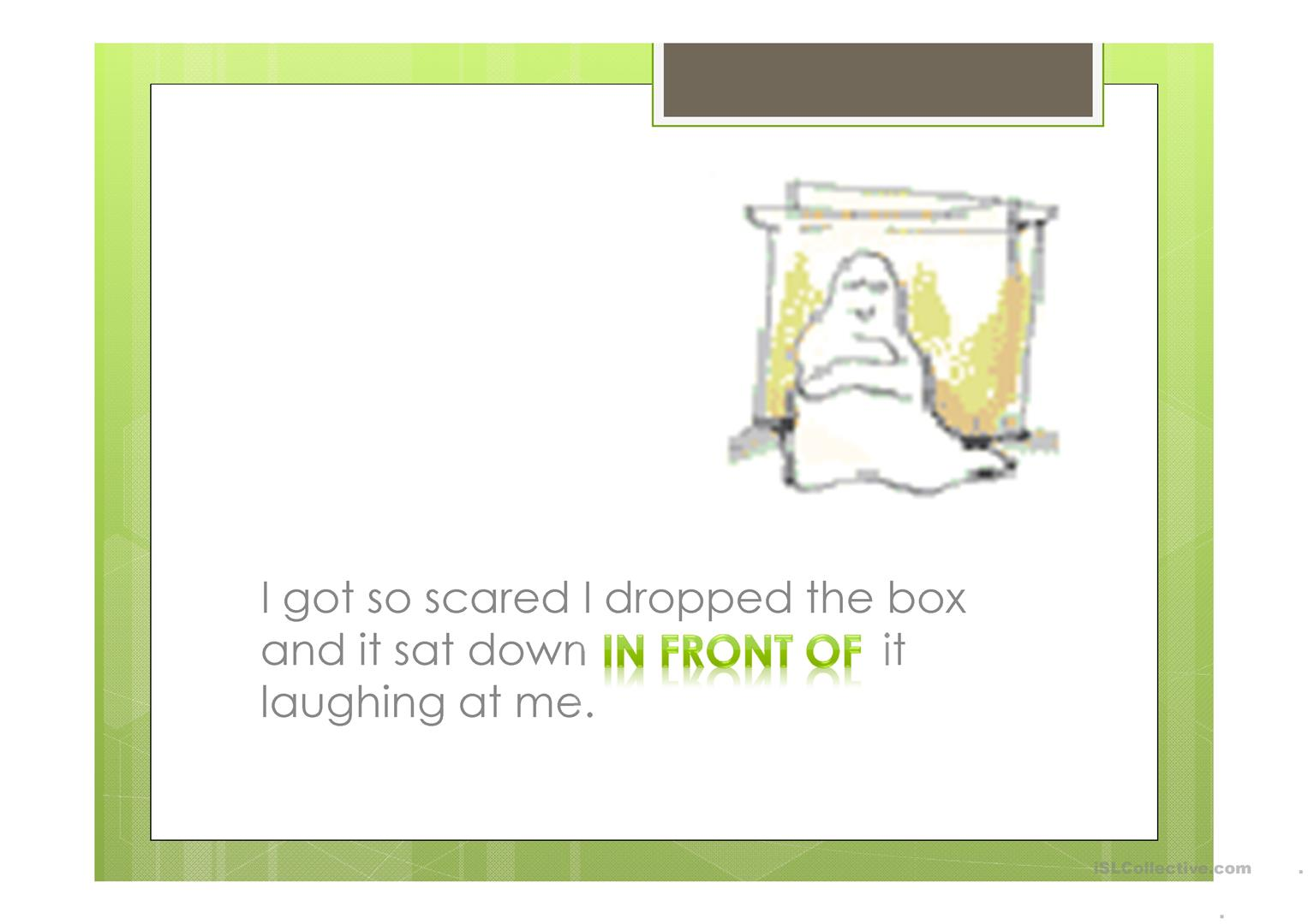 The Haunted House And Going Around Town Worksheet