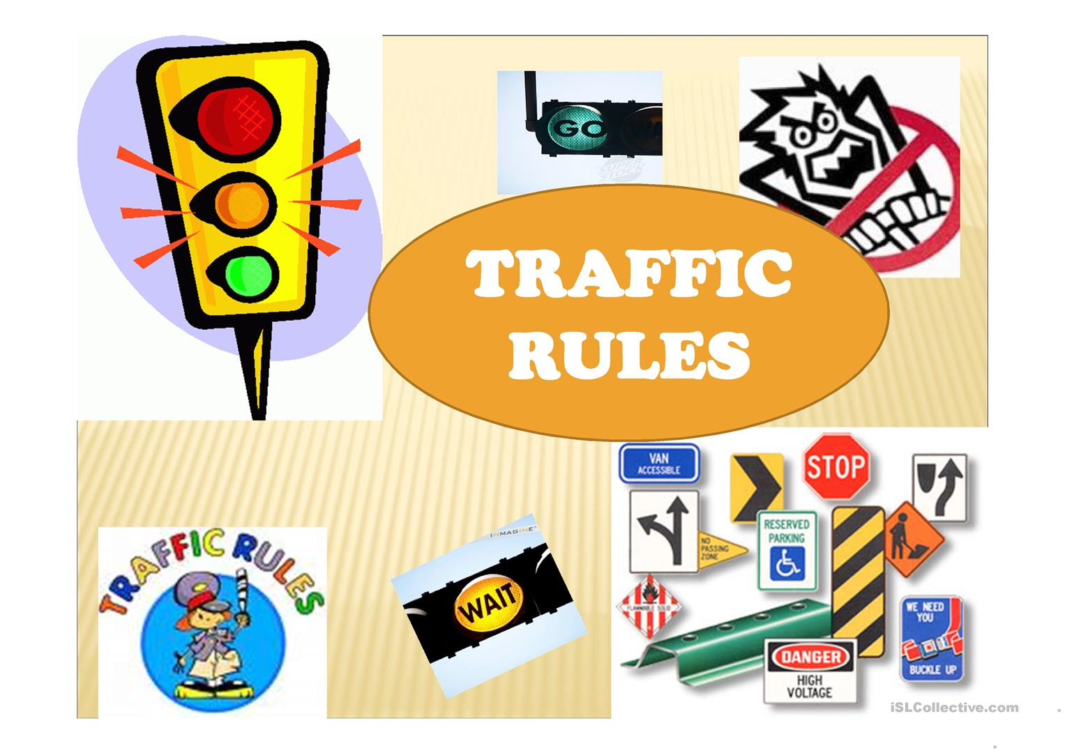 Traffic Rules Worksheet