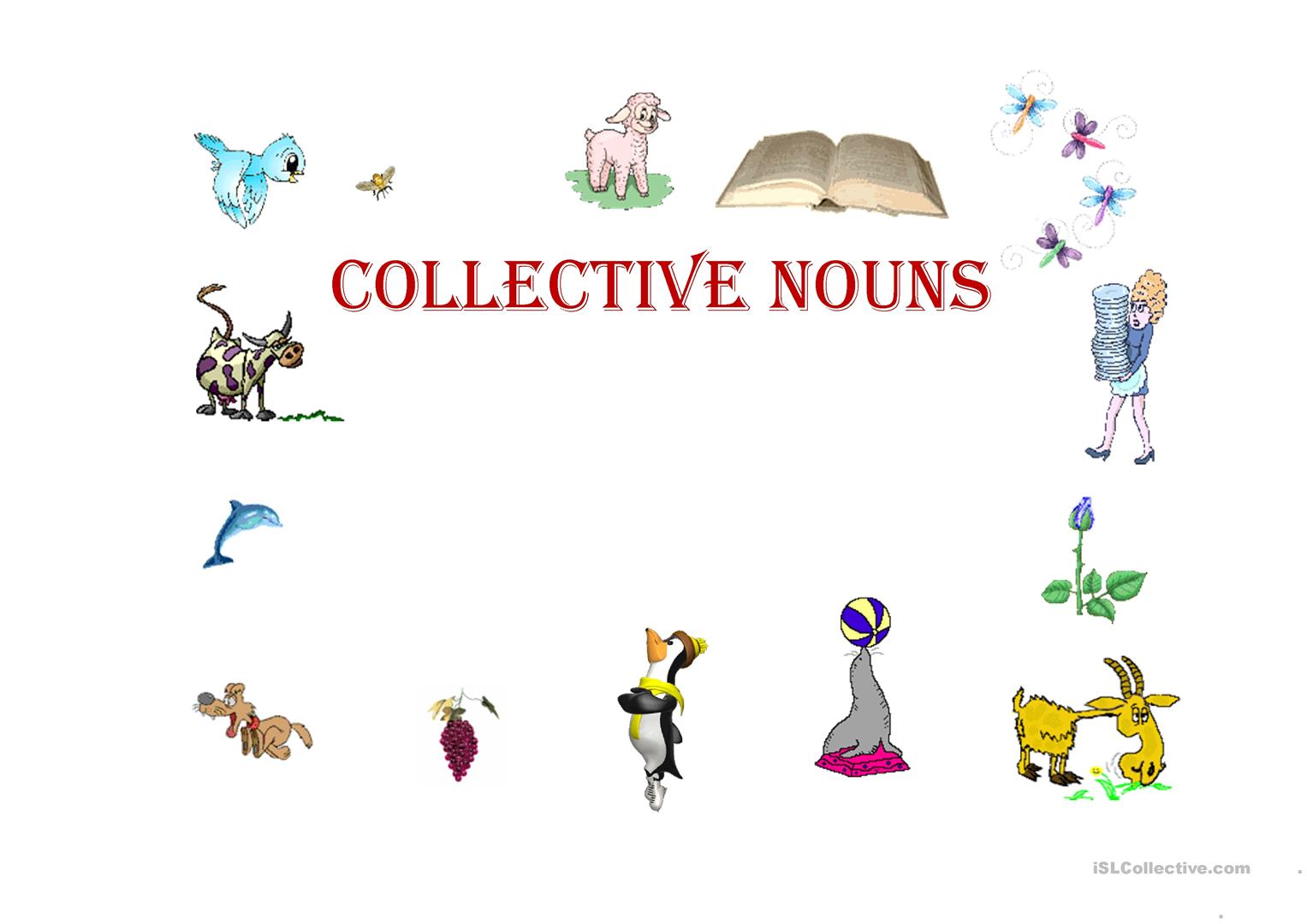 Collective Nouns Worksheet Answers